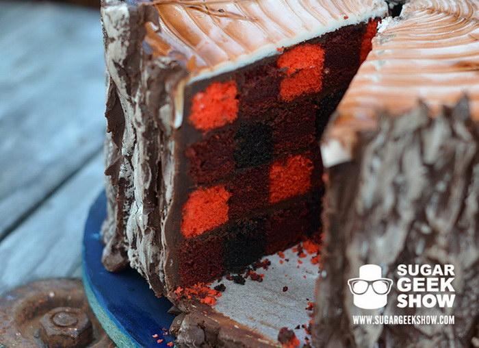 Необычный торт в форме пенька для любителей природы