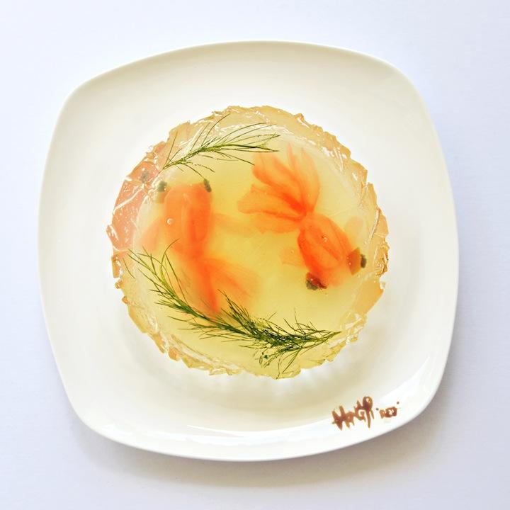 Картины из еды Hong Yi