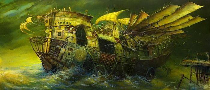 Волшебные корабли Modestas Malinauskas