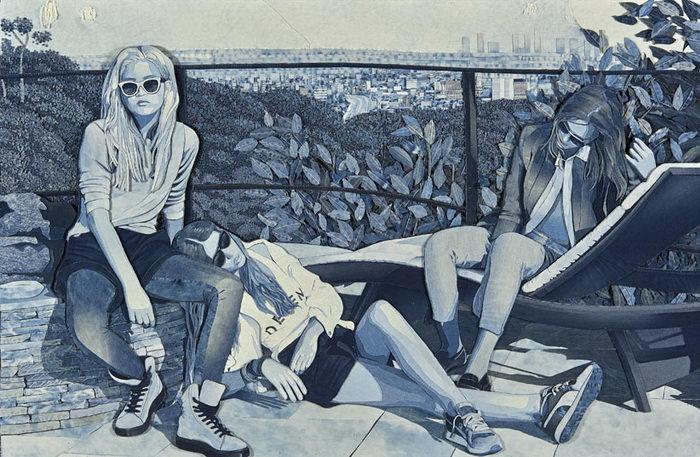 Джинсовый арт Ian Berry