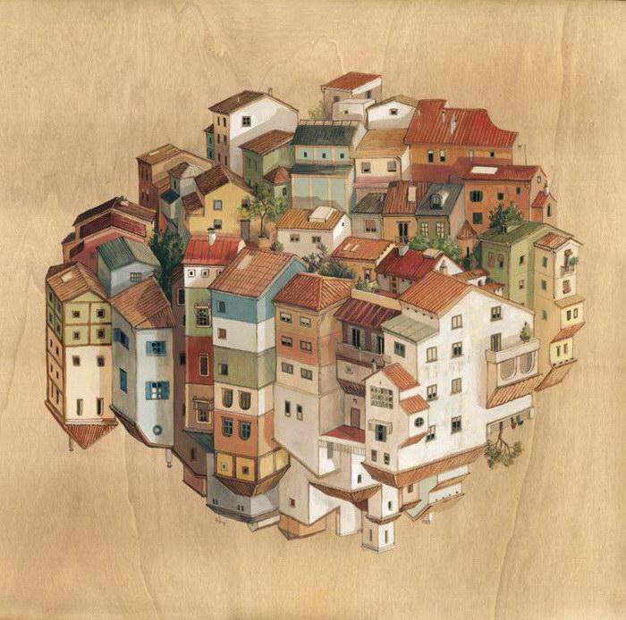 Антигравитационные картины Cinta Vidal
