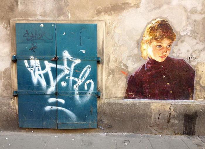 Классические картины на улицах городов