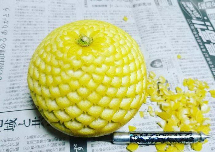 Новые работы Gaku: мастера резьбы по фруктам