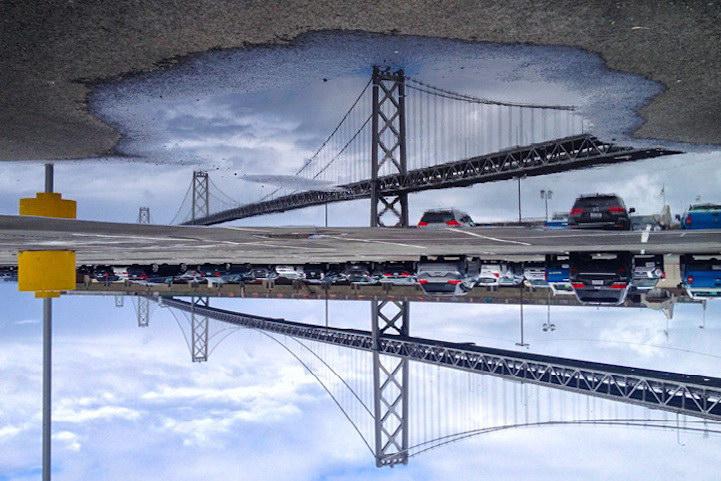 Сан-Франциско в отражениях луж