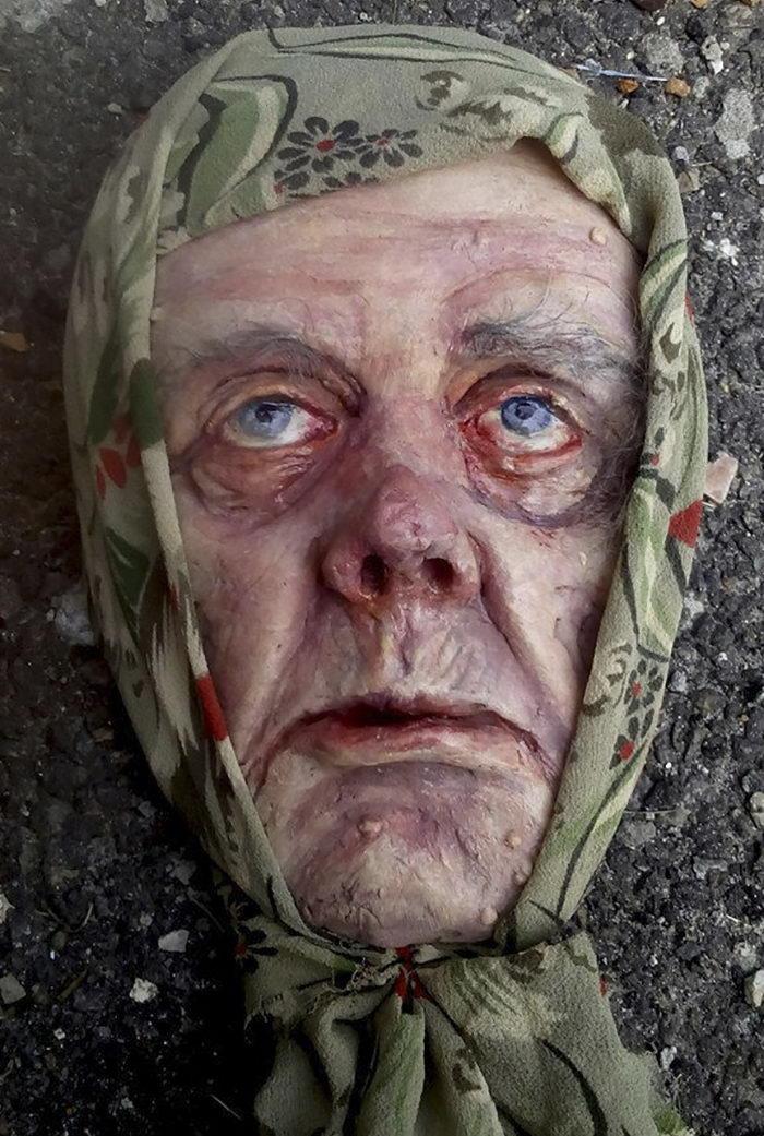 Гиперреалистичные скульптуры лиц Polina Verbytska