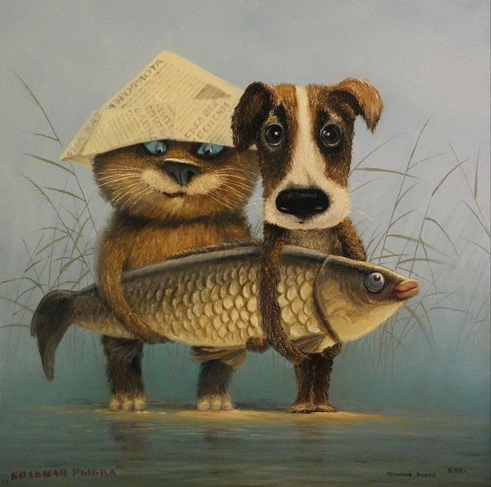 Очень русские картины Андрея Репникова