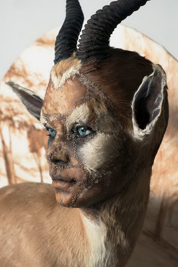 Гибриды людей и животных в проекте Kate Clark