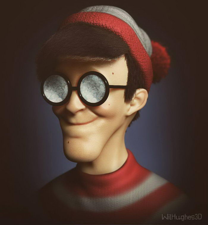 Поп-герои в виде жутких реалистичных 3D-моделей Wil Hughes