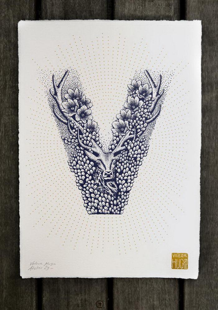 Алфавит из животных и цветов Valerie Hugo