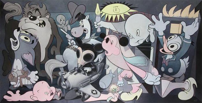 Иллюстрации на тему Герники Пикассо: работы Ron English
