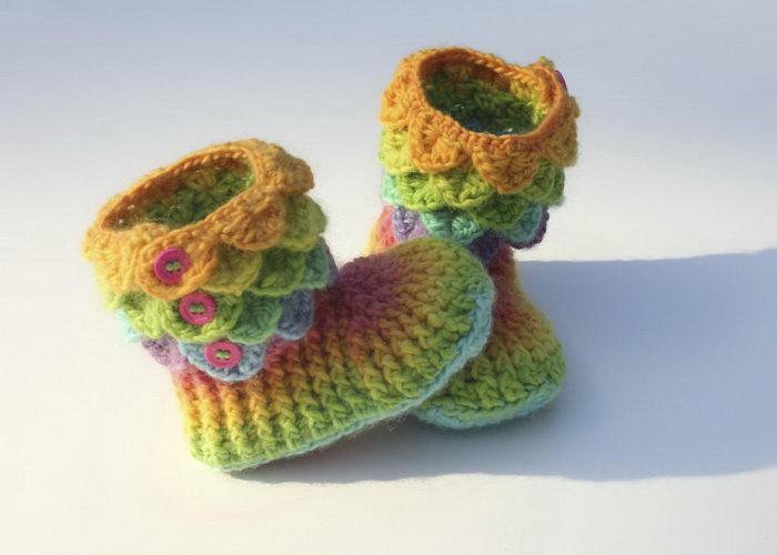 Вязаные носочки в виде сапог: схема вязания Bonita Patterns