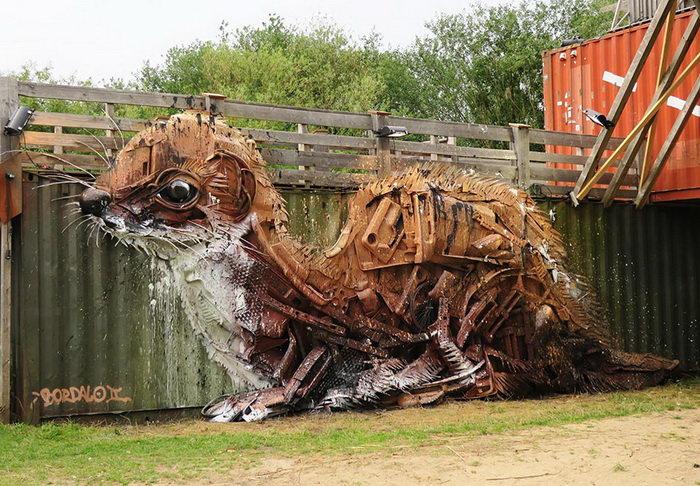 Скульптуры из мусора Bordalo II