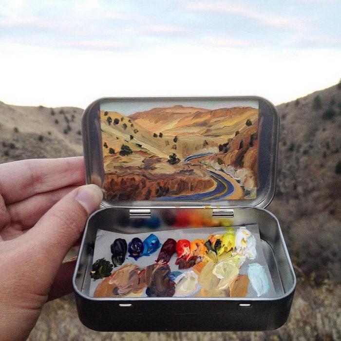 Жестяные коробочки с пейзажами Heidi Annalise