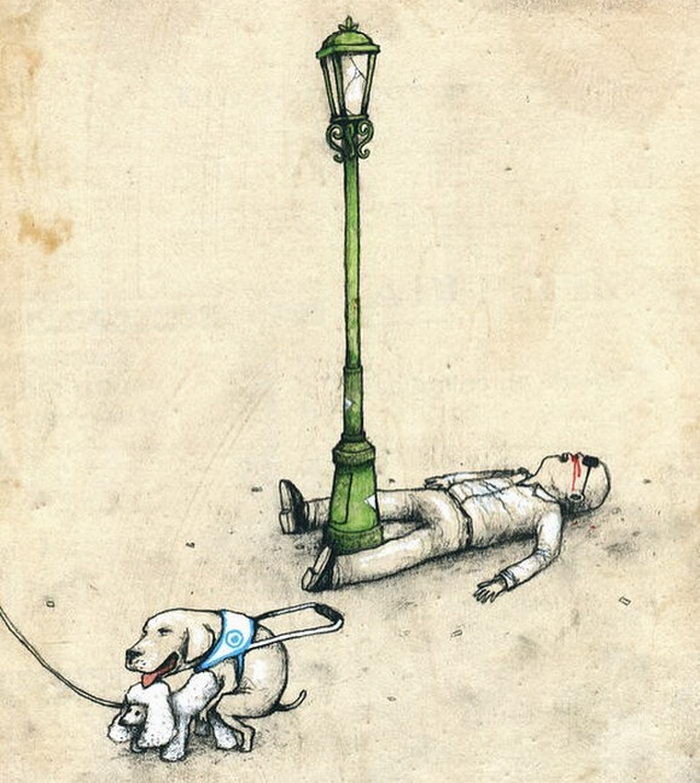 Остроумные иллюстрации Dran