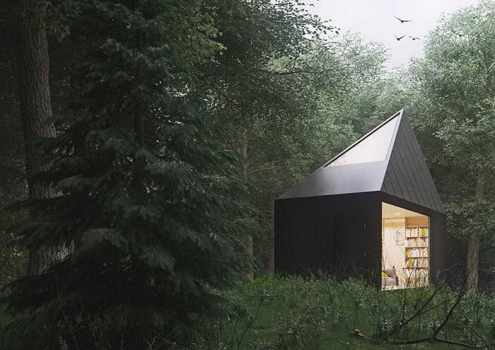 Маленький дом в лесу
