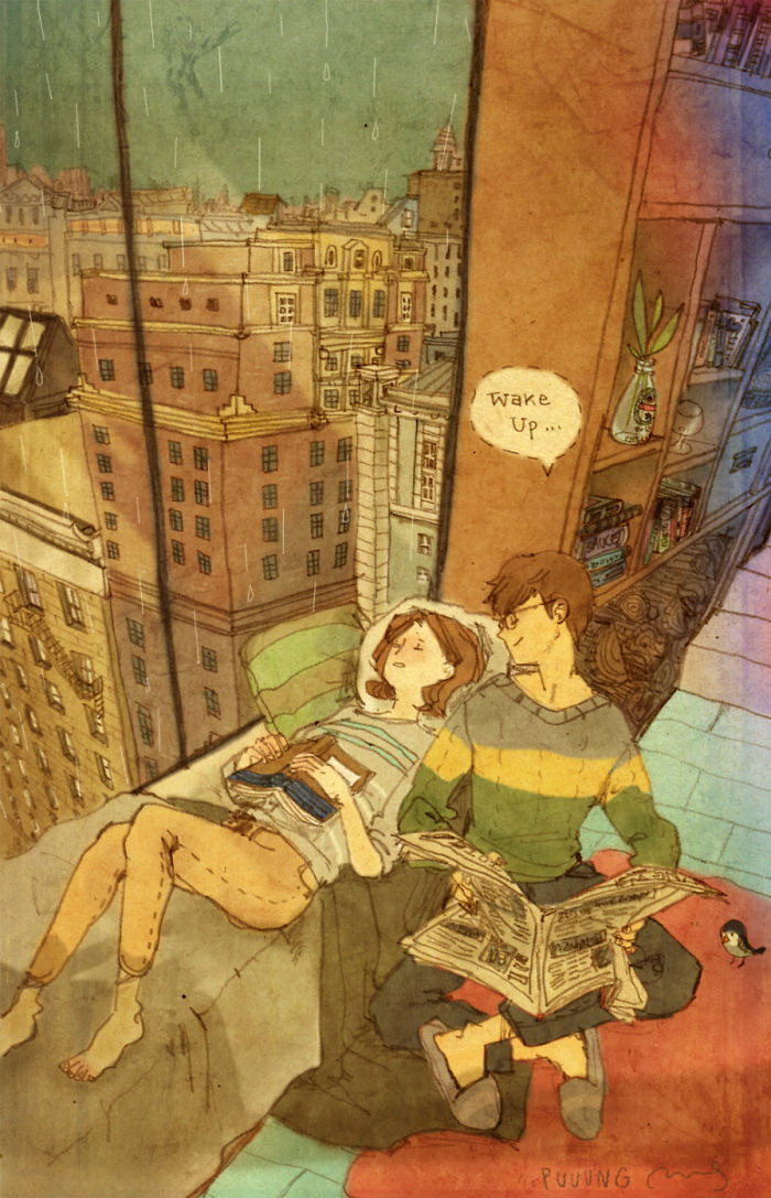 Любовь в иллюстрациях Puuung