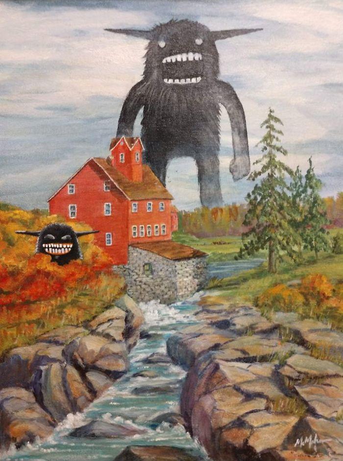 Рисунки монстров Chris McMahon