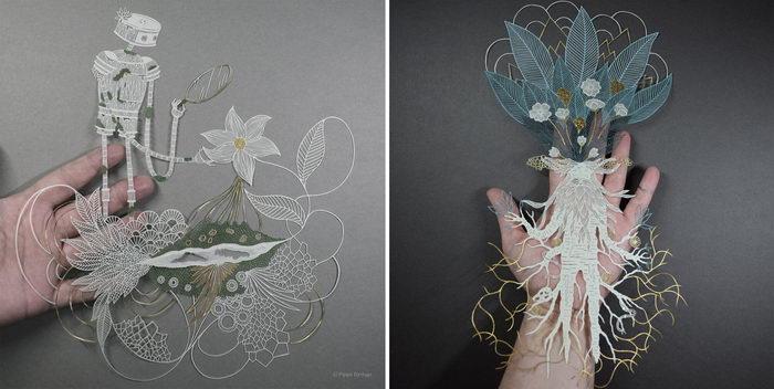 Бумажные творения Pippa Dyrlaga
