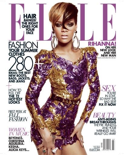 Фотографии Рианны (Rihanna) для журнала Elle, июль 2010