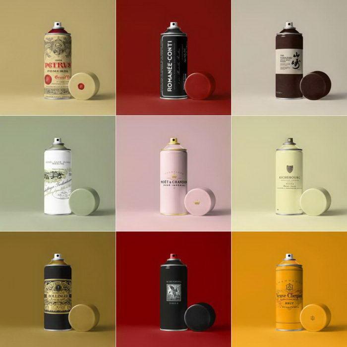 Дорогой алкоголь в виде банок с краской: проект Tom le French