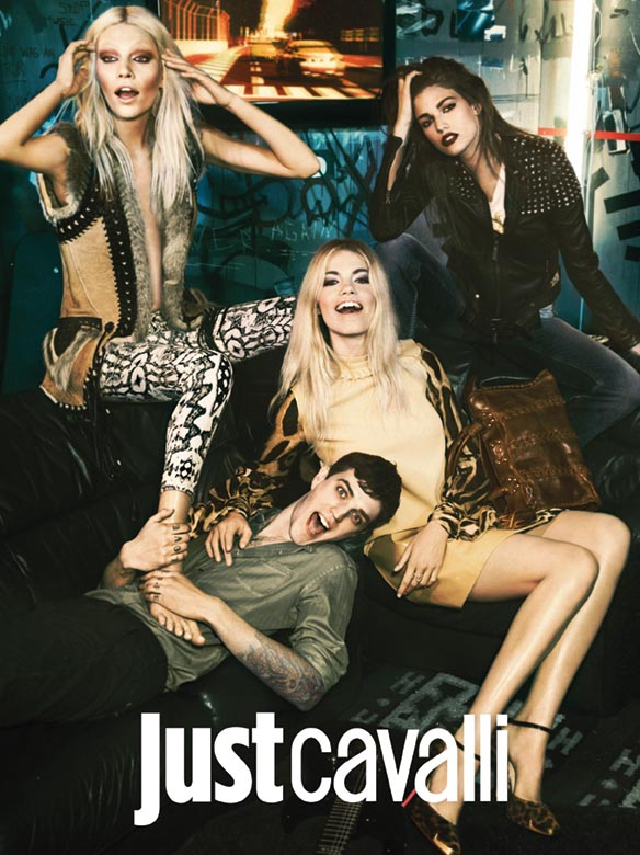 Фотосессия в стиле глэм-рок для Just Cavalli