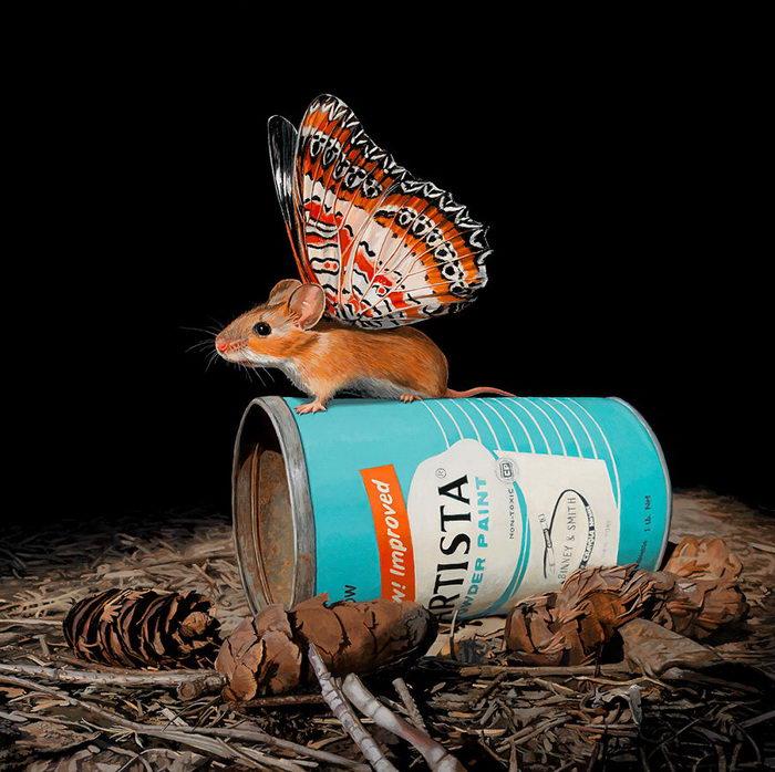 Летающие мышки: новый вид животных на картинах Lisa Ericson