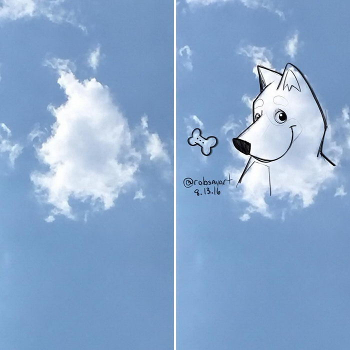 Рисунки на облаках Rob Sayegh Jr