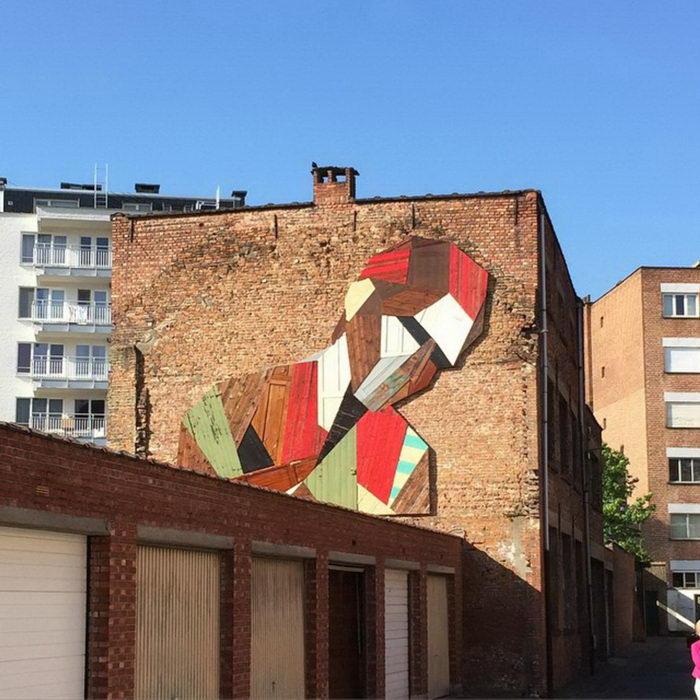 Деревянные граффити Stefaan De Croock
