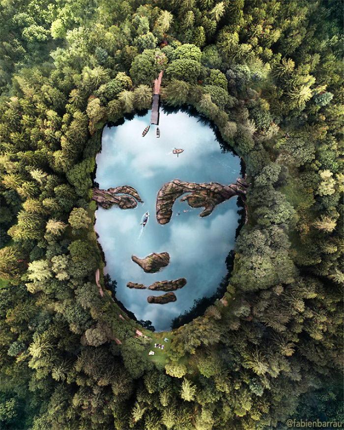 Фотоколлажи Fabien Barrau: парейдолия в природе