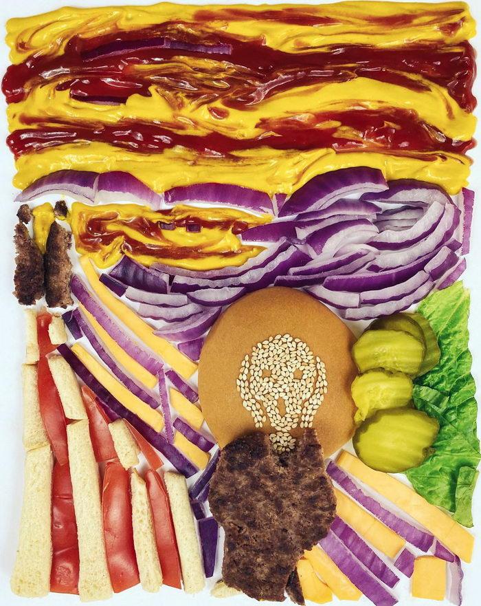 Коллажи из еды Ben Basket