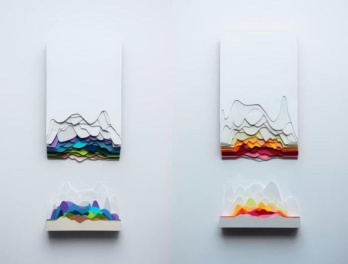 Бумажные скульптуры Maud Vantours