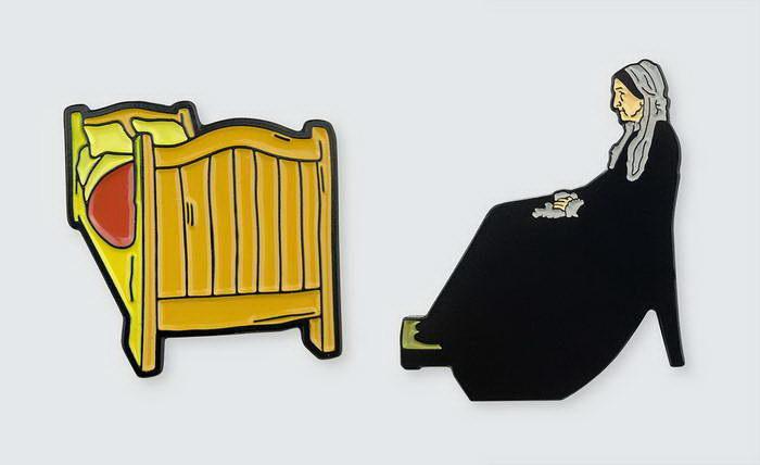 Значки с известными картинами The Pin Museum