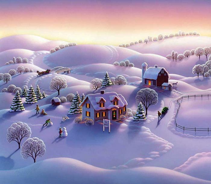 Новогодние картинки Robin Moline