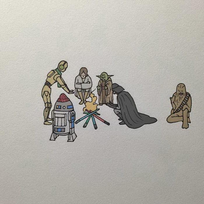 Поп-культура в миниатюрах Hi Bin