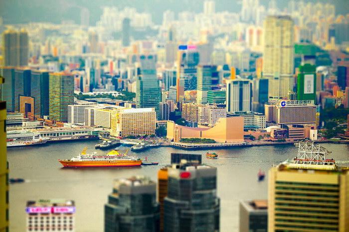 Гонконг в тилт-шифт фотографиях Harold Hdp