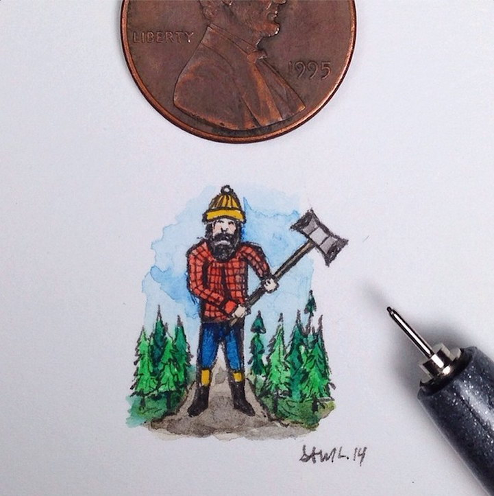 Маленькие и красивые зарисовки Sam Larson