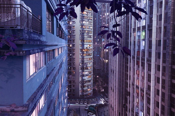 Ночные неоновые азиатские города Marilyn Mugot