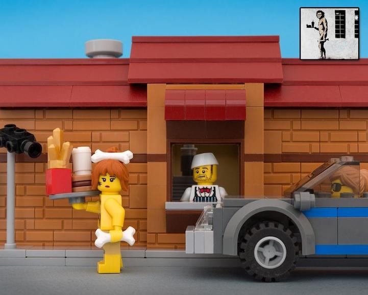 Стрит-арт в виде Lego