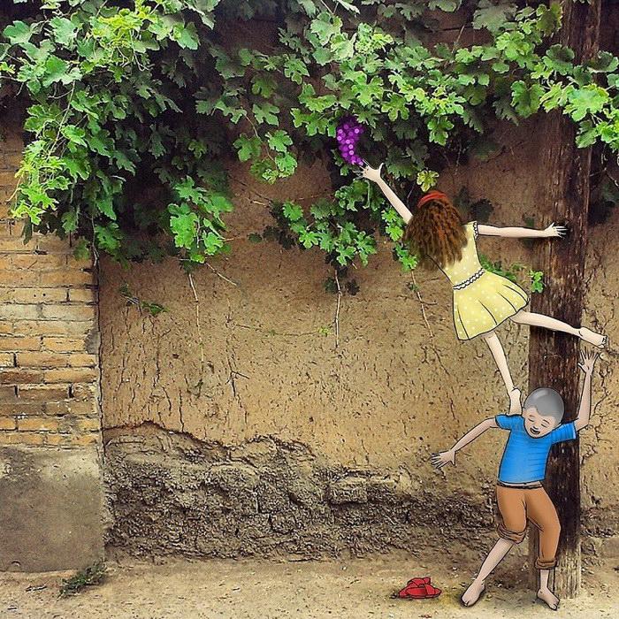 Рисунки на фотографиях Rasoul Shokrani