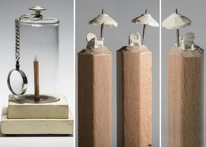 Резьба по грифелю карандаша: работы Cindy Chinn