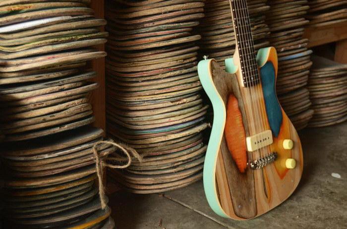 Гитары из скейтбордов Nick Pourfard