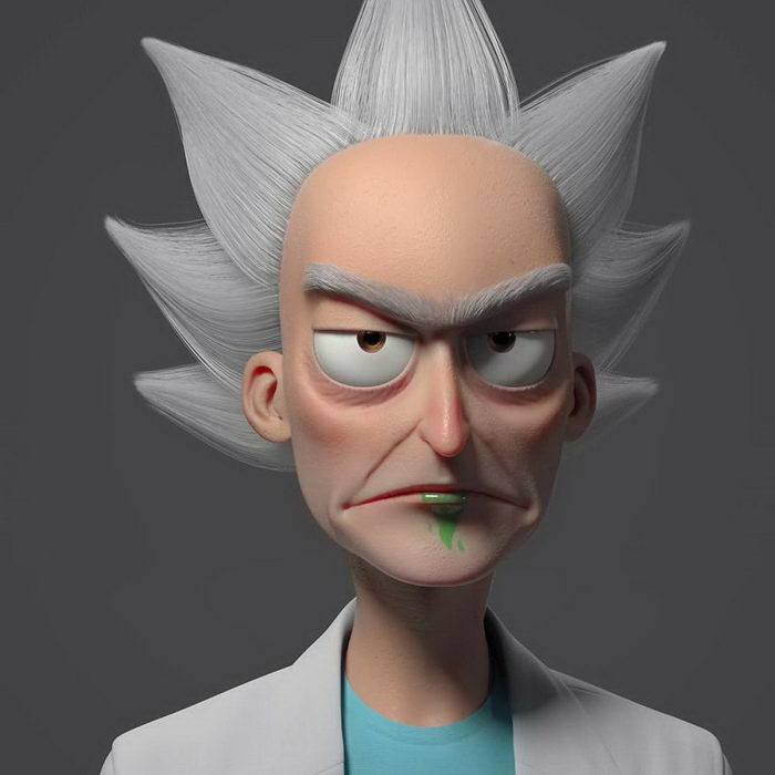 3D-иллюстрации популярных персонажей Gustavo Soares