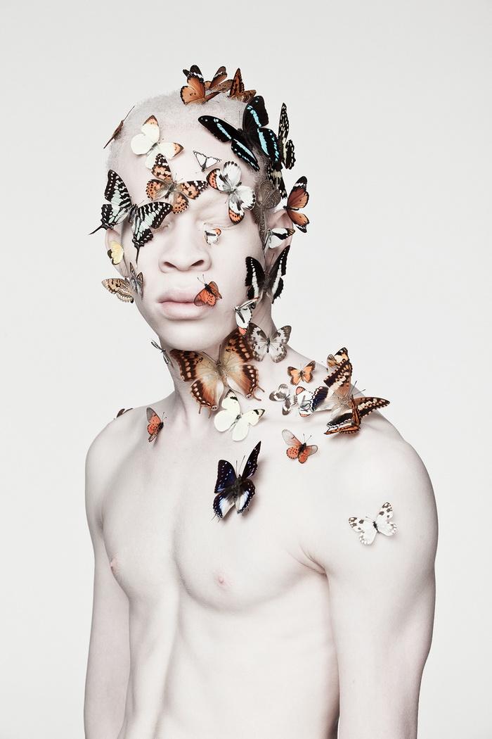 Модели-альбиносы в фотосессиях Justin Dingwall