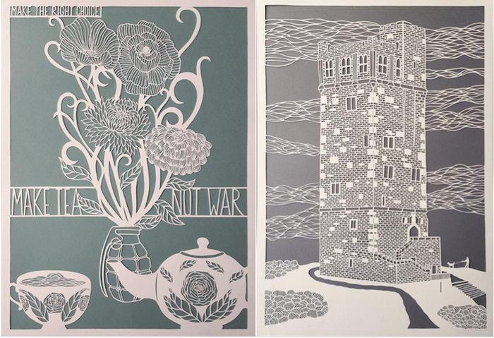 Бумажный арт Pippa Dyrlaga