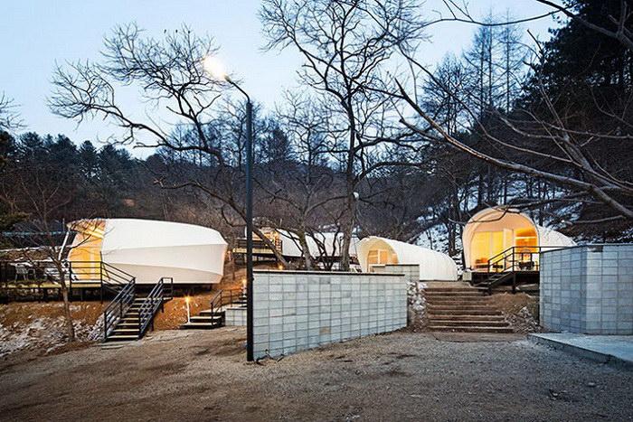 Кемпинг для любителей цивилизации в Южной Корее