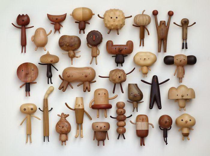 Деревянные фигурки Yen Jui-Lin