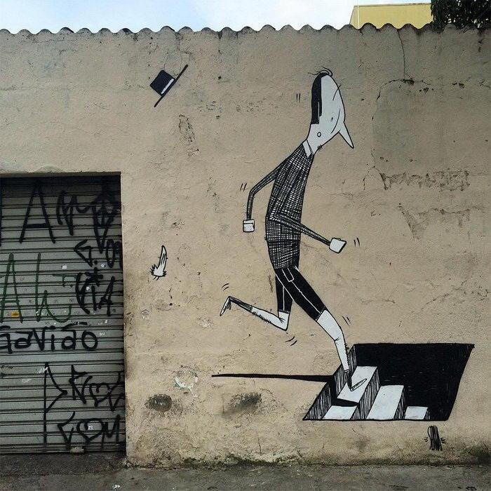 Граффити в бразильских городах Alex Senna