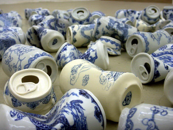 Керамические смятые банки Lei Xue