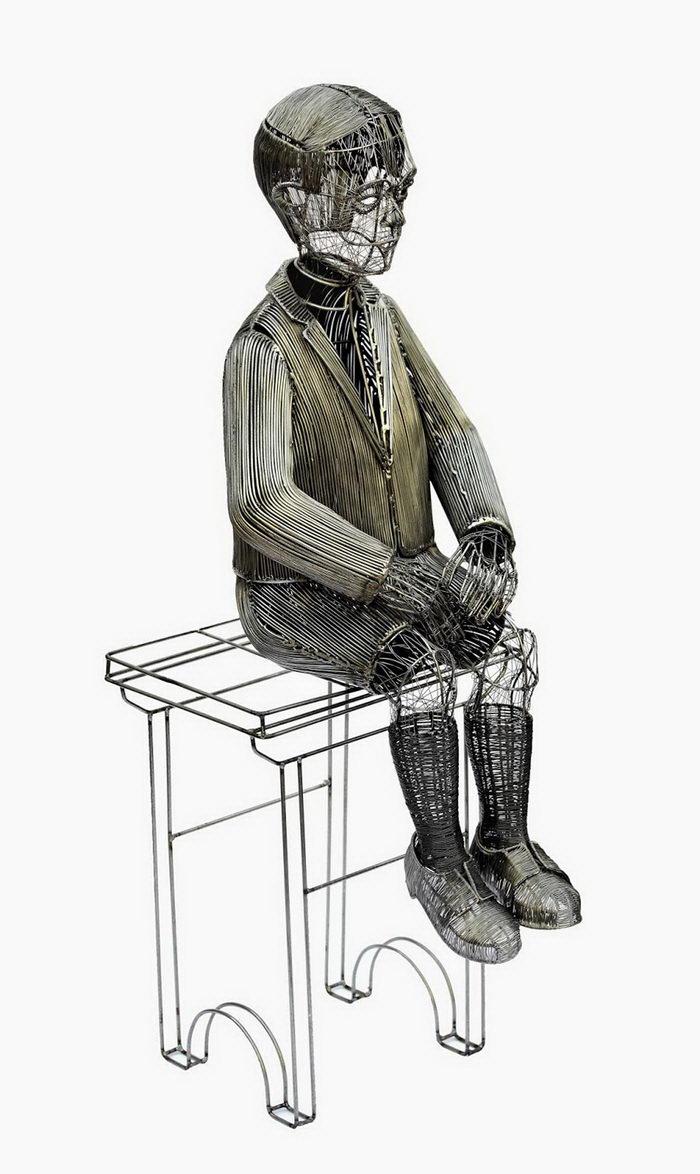 Скульптуры из проволоки Roberto Fanari