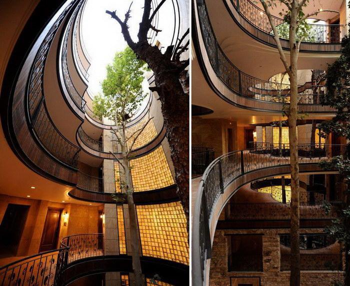 11 зданий, которые дали возможность деревьям вырасти